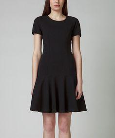 Love this Black Ofelia Drop-Waist Dress on #zulily! #zulilyfinds