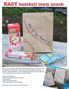 Easy Baseball Team Snack and ideas @fortheloveofshorties