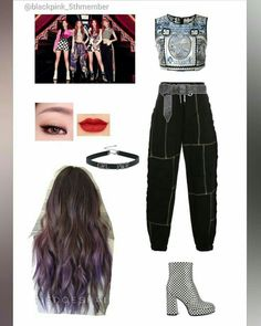 Blackpink Fashion, Kpop Fashion Outfits, Stage Outfits, Korean Outfits, Dance Outfits, Cute Edgy Outfits, Retro Outfits, Classy Outfits, Bts Inspired Outfits