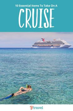 Here are 10 essential items for your cruise packing list with kids or adults only travel. Whether you are taking a Caribbean cruise or a cold weather itinerary, long or short, no matter the cruise line, you want these tips! Packing List For Vacation, Packing For A Cruise, Cruise Travel, Cruise Vacation, Travel Packing, Travel Tips, Travel Essentials, Cruise Destinations, Family Vacation Destinations