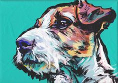 Heres a wonderful, bright, fun, tribute to your best friend and favorite breed- the Jack! from an original painting by Lea Your print will be