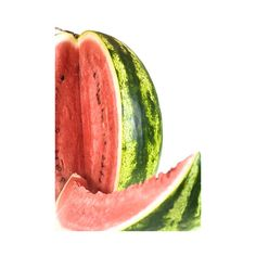 water melon isolated on white background ❤ liked on Polyvore featuring food