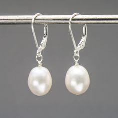 Roxy's Jewelry - Freshwater Pearl Leverback Earrings, $29.00 (http://www.roxysjewelry.com/freshwater-pearl-leverback-earrings/)