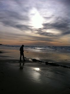 Winter sky, Oregon Coast.  Was there many years ago and it was glorious.