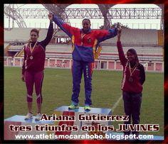 Ariana Gutierrez: Tres triunfo para Carabobo, en los JUVINES ~ Atletismo Carabobo
