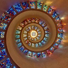 Vidriera espiral