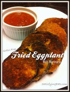 Fried Eggplant with Marinara #SatisfyingEats