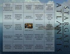 Stargate Atlantis Bingo