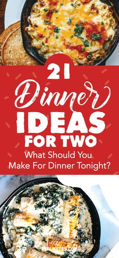 31 Dinner Ideas For Two: What Should I Make For Dinner? Yummy Recipes To Try Tonight Easy Delicious Dinner Recipes, Quick Easy Dinner, Easy Healthy Recipes, Yummy Recipes, Delicious Food, Healthy Meals, Crockpot Recipes, Healthy Food, Vegan Recipes
