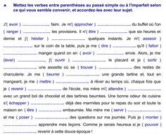 exercice passé simple et imparfait Cycle 3, Teaching French, France, Language, Aide, Fried Chicken, French Class, Elementary Schools, Languages