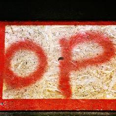 Red OP red redpaint redspraypaint redop redletters streetart urbanart instagraffiti amsterdam op type streetartphotography