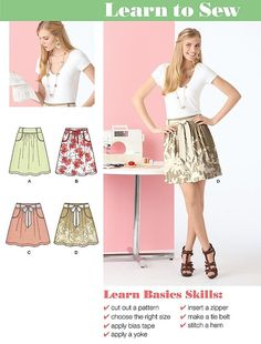 SKIRT Sewing Pattern ~ Skirts in 2 Lengths & 7 Sizes Plus Size OOP 2226 #patterns4you