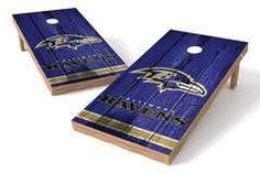 Baltimore Ravens Single Cornhole Board - Vintage