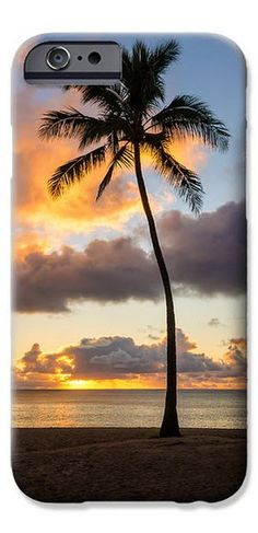 Waimea Beach Sunset - Oahu, Hawaii iPhone #phonecase. By Brian Harig. Cases also available for Samsung.
