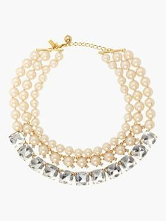 shaken and stirred triple strand necklace