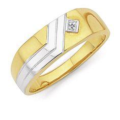 9ct, Diamond Gents Ring