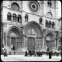 """""""There are many churches in Genoa. The most famous is the Cathedral, because of its immense size and great antiquity, having been finished in the Eleventh century. It has some very large paintings and fine statuary."""" WSC, 1884"""