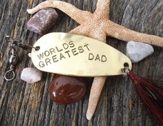 READY TO SHIP World's Greatest Dad My Dad's by CandTCustomLures, $34.00