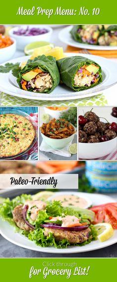 Paleo-friendly Weekly Meal Prep Menu: No. 10 | The Real Food Dietitians | http://therealfoodrds.com/weekly-meal-prep-menu-no-10/