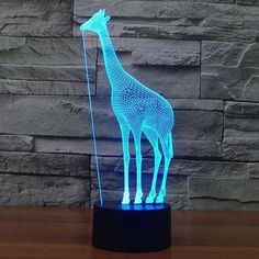 Lights & Lighting Tireless New Guitar 3d Light Colorful Touch Led Visual Light Creative Gift Atmosphere Table 3272