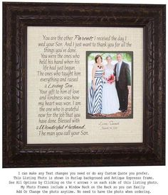 Personalized Mother of the Groom Wedding Gift for Parents, Wedding Day Gifts for Mother of the Groom In Laws, Wedding Photo Frames, Wedding Gifts For Bride And Groom, Mother Of The Groom Gifts, Wedding Gifts For Parents, Wedding Thank You Gifts, Unique Wedding Gifts, Wedding Groom, Bride Gifts, Mother Gifts, Bride Groom