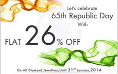 Republic Day Special | 26 % Off On All Diamond Jewellery