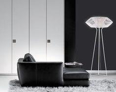 VV03 floor lamp in white polycarbonate and steel by Arturo Alvarez. 34-981-81-46-00; arturo-alvarez.com.