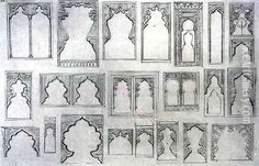 Jean Francois Albanis de Beaumont, Islamic and Moorish arch designs for balconies and windows