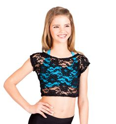 Discount Dance Supply - I'm in love with this cute lace crop top.(: