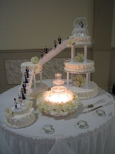images pictures of wedding cakes with stairs. Ever have a cake shift, slide, pictures of wedding cakes with stairs. Elegant Wedding Cakes, Wedding Cake Designs, Debut Cake, Fountain Wedding Cakes, Bolo Fack, Butterfly Wedding Cake, Quinceanera Cakes, Wedding Cake Inspiration, Wedding Ideas