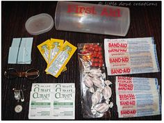 Little Dove Creations: pioneer trek: travel first aid kits