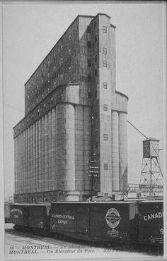 Silo no 1(grain elevator), was on de la Commune street, Montreal built in 1902 building has been demolished