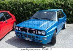 #Blue #Lancia #Delta #Martini #Racing #Editorial #Stock_Photo
