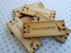 Wood Tags Handmade Label 5pcs. by lallehandmade on Etsy
