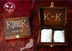 Wedding ring box- pudełko  na obrączki made by majlaf:)) More: https://www.facebook.com/MAJLAF.DIY