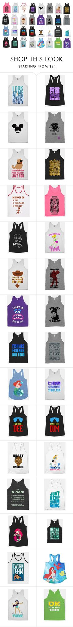 """""""Disney Tank Tops"""" by disneydressing ❤ liked on Polyvore featuring Disney, Fraternity, women's clothing, women, female, woman, misses and juniors"""