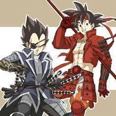 Dragon Ball Z Goku and Vegeta Dragon Ball Gt, Dragon Z, Manga Anime, Anime Guys, Manga Art, Anime Art, Vegeta Y Trunks, Sengoku Basara, Goku And Vegeta
