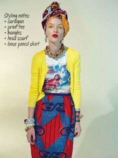 I'm not a brights person, but this whole thing is just so entirely my thing! even, esp the turban!