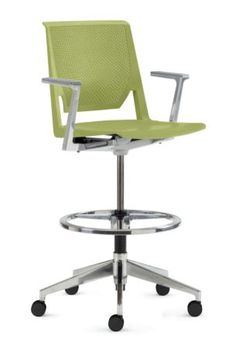 Haworth Store Very Drafting Stool - Perforated Back