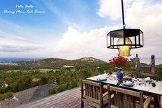 Villa Belle (Choeng Mon, Koh #Samui) set in lush tropical surroundings on a hillside overlooking the captivating bays of Choeng Mon and Plai Laem. Designed to encompass these wide panoramic vistas of the azure Gulf of Siam and neighboring #islands.