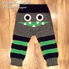 Completely Customizable Monster Pants Available up to 5 years Football & Sports Themed Colors of your choice Adjustable ties Baby Boy Knitting, Knitting For Kids, Baby Knitting Patterns, Hand Knitting, Crochet Patterns, Crochet For Boys, Crochet Baby, Knit Crochet, Crotchet