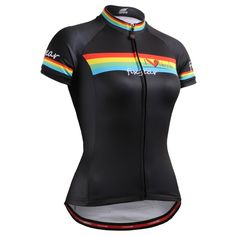 Womens Cycling Jerseys Bike/Bicycle Clothing Wicking Fabric Rainbow Stripe 2017 Brand New Sports Wear Ropa Ciclismo #Affiliate