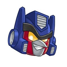 angry birds transformers - red face