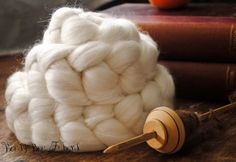 Undyed Merino Bamboo Blend Combed Top Wool Roving Spinning or Felting