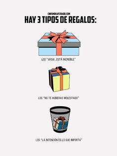Hay tres tipos de regalos.