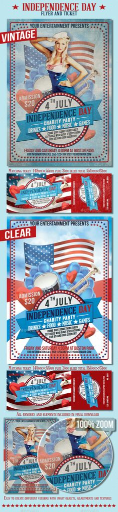 Independence Day Flyer Bundle - independence day flyer
