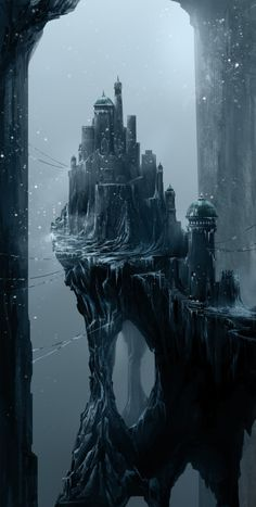 Digital Painting / Concept Art / Landscape / City / SciFi / Science Fiction / Other Planet / Future / Surreal / Mystic / Fantasy // ♥ More at: https://www.pinterest.com/lDarkWonderland/