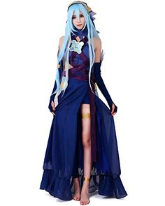 Introducing Miccostumes Womens Fire Emblem Fates Conquest Azura Blue Cosplay Costume WM. Get Your Ladies Products Here and follow us for more updates!