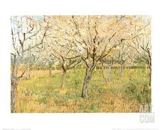 Orchard in Blossom Art Print by Vincent van Gogh at Art.com