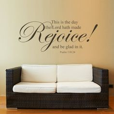 Attractive Amazon.com: MairGwall Bible Verse Wall Sticker Quotes Scripture Lord Vinyl Wall  Decal Mural Part 15